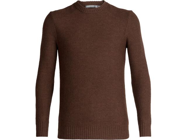 Icebreaker Waypoint Sweat-shirt à col ras-du-cou Homme, bronze heather